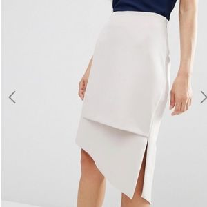 ASOS Premium Asymmetric Pencil Skirt